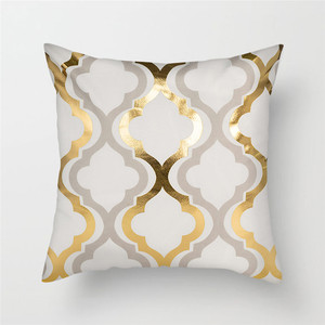 Image 5 - Fuwatacchi Polyester Gold Letter Pillow Case Black Cover Sofa Car Waist Cushion Throw Pillow Sofa Decorative Pillows 45*45cm