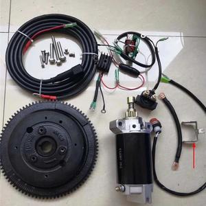 Электростартовый комплект E40 Для YAMAHA PARSUN HIDEA POWERTEC PIONEER T40 MIKATSU M40 2T 40HP 703CC, стартер, двигатель зажигания