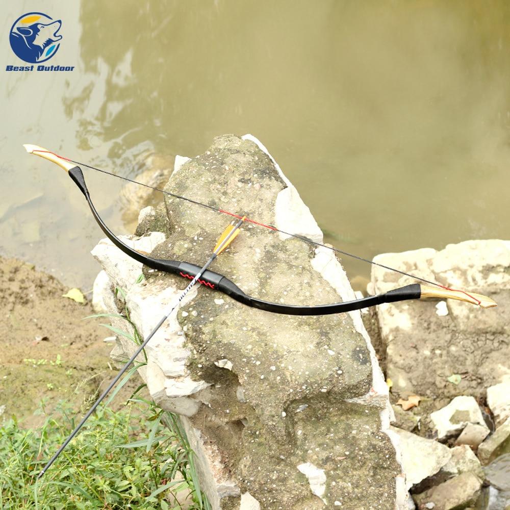 ar livre caça tiro tradicional longo arco tiro com arco puro artesanal
