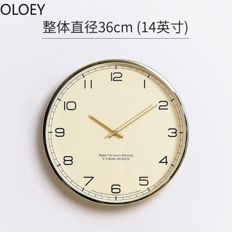 Large Gold Wall Clock Luxury Wood Mechanism Living Room Modern Minimalist Watch Hanging Silent Orologio Da Parete Home Decor Hot