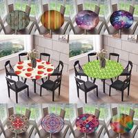 Elástico afiado à prova dwaterproof água apoiado cabido toalha de mesa decoração da cozinha  se encaixa 47 polegadas mesas redondas|Acessórios de móveis| |  -