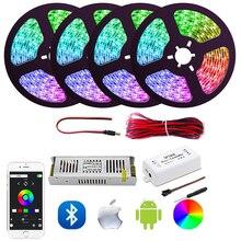 Traum Farbe FÜHRTE Streifen Lichter mit APP, WS2811 RGB Seil Lichter Kit, sp105e Bluetooth Steuer Flexible Streifen Beleuchtung für Home set