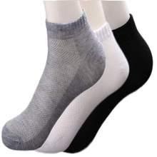 3Pair/Lot Solid Mesh Mens Socks Invisible Ankle Men Summer Breathable Thin Male Boat