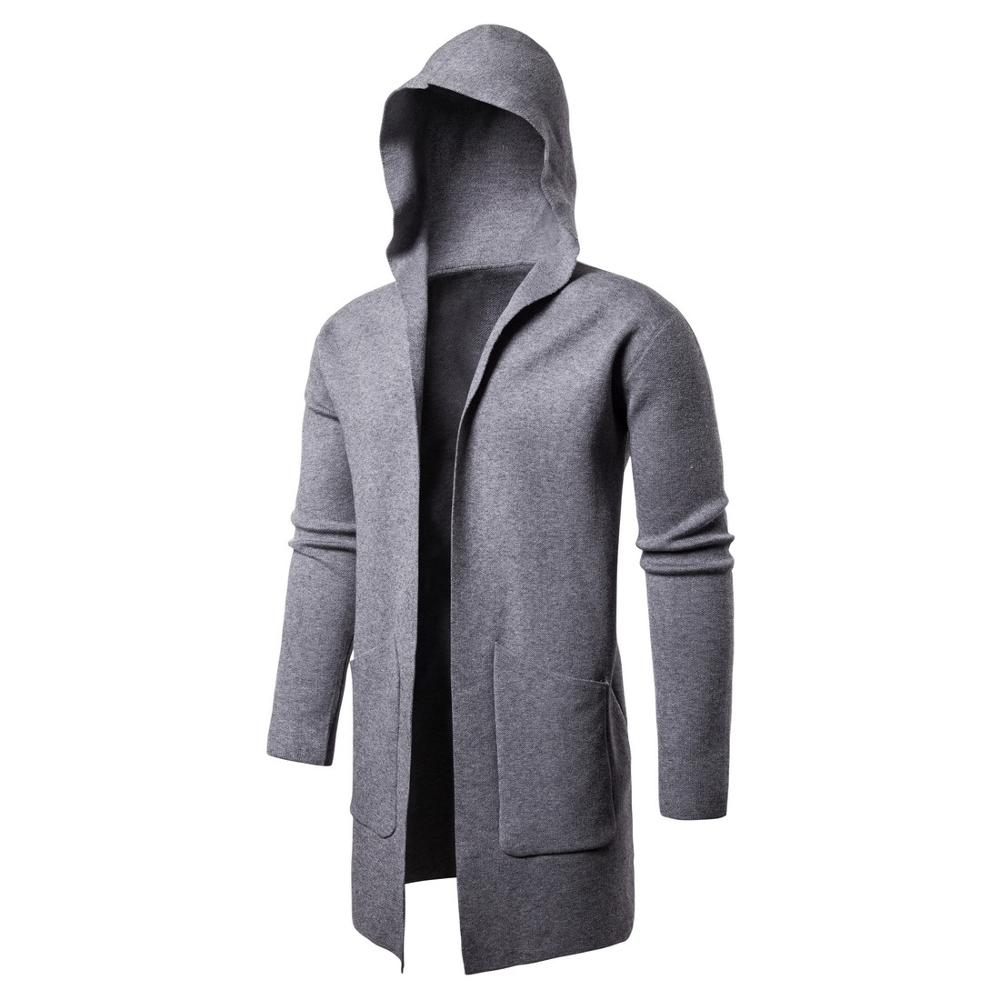 New Sweater Men Solid Pullovers Casual Hooded Sweater Autumn Winter Warm Femme Men Clothes Slim Fit Jump
