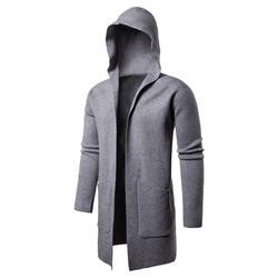 Nieuwe Trui Mannen Effen Truien Casual Hooded Sweater Herfst Winter Warm Femme Mannen Kleding Slim Fit Jump