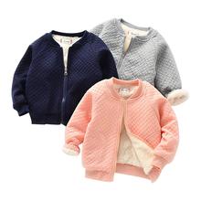 Ubranka dla dzieci kurtki zimowe dla chłopców bawełniana ocieplana kurtka bejsbolówka dla dziewczynek ciepłe kurtki dla chłopców i dziewcząt tanie tanio KEAIYOUHUO W wieku 0-6m 7-12m 13-24m 25-36m Unisex Moda CN (pochodzenie) COTTON 32683 Pasuje prawda na wymiar weź swój normalny rozmiar