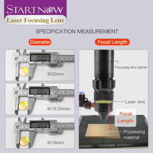 "Image 5 - Startnow CO2 לייזר פוקוס עדשה סין ZnSe PVD 12 18mm 19.05 20 mm F38.1 50.8 63.5 76.2 101.6 1.5 ""  4"" עבור לייזר מכונת חיתוך"