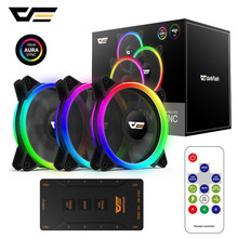 Darkflash RGB PC Case Fan 120 Mm Komputer CPU Kipas Pendingin Tenang ASUS Aura Sync Pendingin Menyesuaikan Kecepatan LED Kipas PC MR12(China)