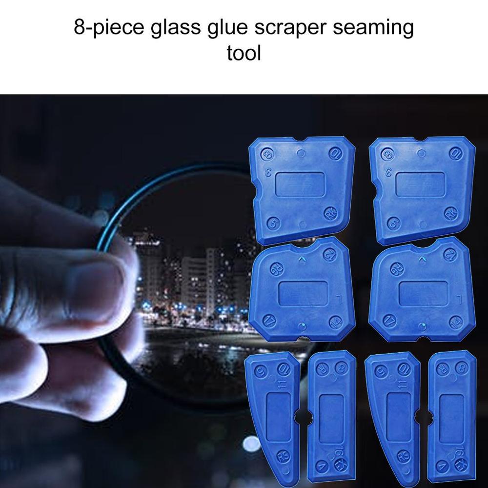 8 Sets Of Glass Plastic Scraper Plastic Scraper Professional Fashion Portable Repair Wall Sewing Tools