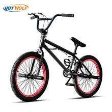 20-дюймовый стальной велосипед BMX Performance Детский велосипед с фиолетовыми / красными шинами для шоу Stunt Acrobatic Bike сзади Необычный уличный велоси...