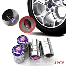 4Pcs/Set Tire Stem Valve Caps Aluminum Car Dustproof Wheel Air for  SAAB 9000 900 9-2X 9-3X 9-4X