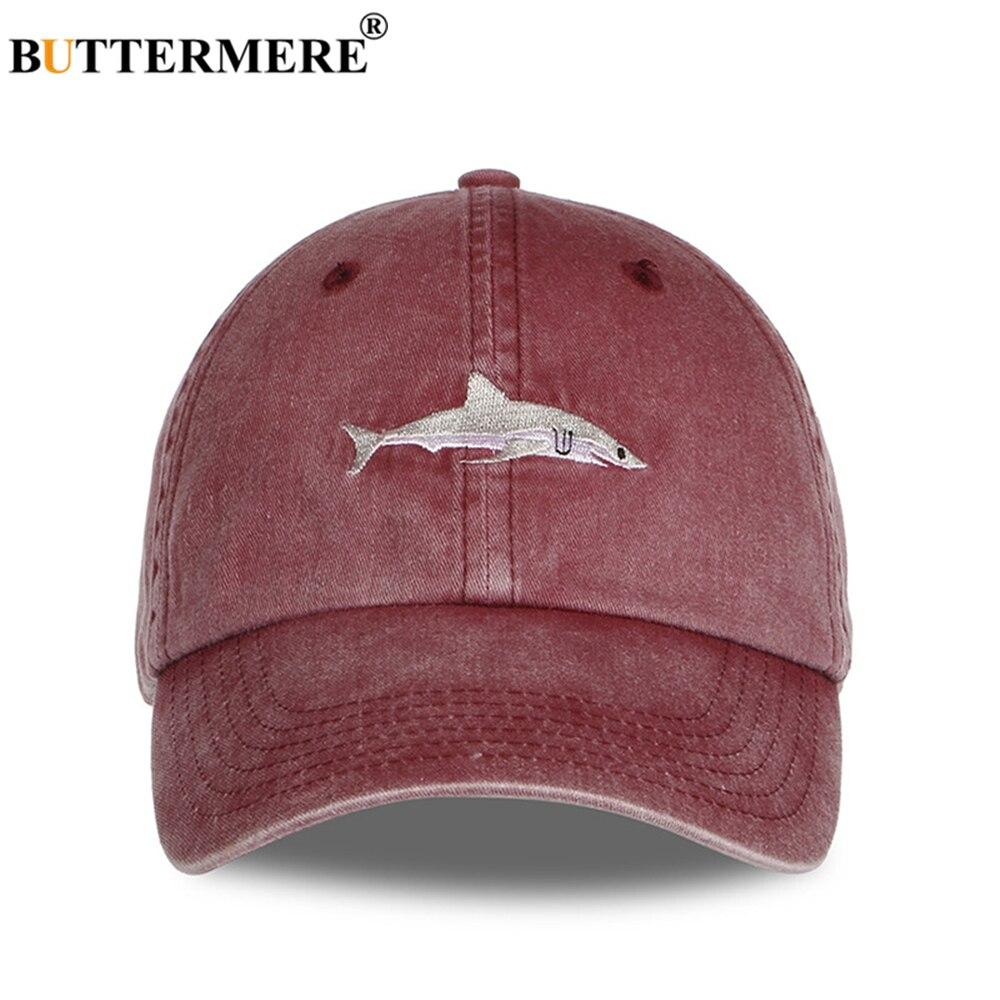 Image 3 - BUTTERMERE Hat Men Shark Baseball Cap Black Famale Male Autumn Winter Snapback Designer Brand Dad Hat