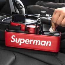 DC Marvel мультфильм модные аксессуары автомобильное сиденье зазор Органайзер коробка для хранения искусственная кожа авто сиденье щелевая сторона Stoweing Tidying