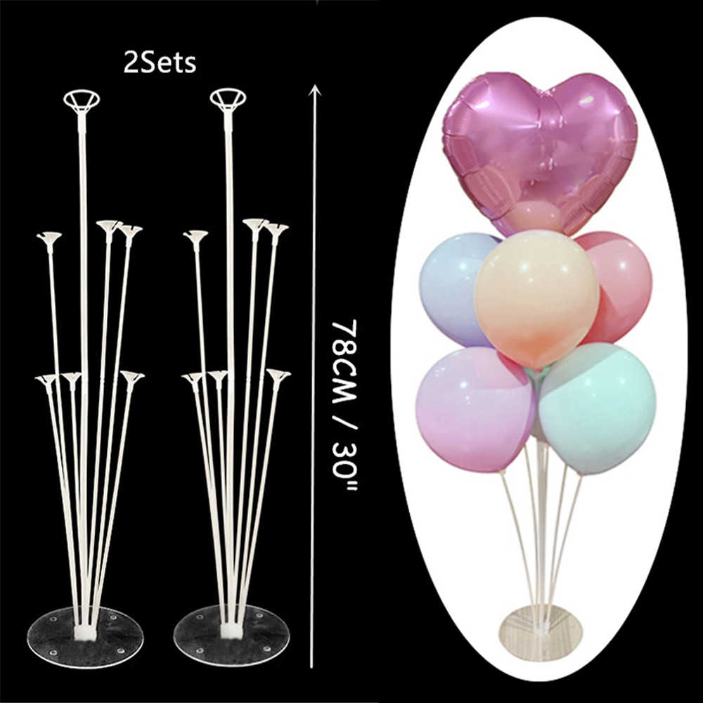 1/2 ชุดบอลลูน Arch ขาตั้งผู้ถือบอลลูนคอลัมน์ตกแต่งงานแต่งงานบอลลูนเด็กงานเลี้ยงวันเกิดบอลลูนอาบน้ำเด็กอุปกรณ์
