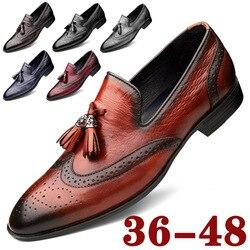 Luxe Style italien mode hommes chaussures formelles en cuir véritable robe de mariée mocassins décontractés mocassins concepteur Derby chaussures hommes
