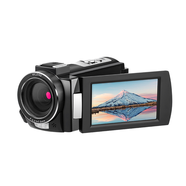 Andoer 4K WiFi DV Recorder Digital Video Camera Camcorder 30MP 16X Digital Zoom with Batteries Wide Angle Lens Microphone 3