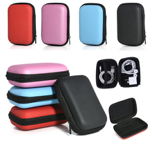 Portable Earphone Case Mini Zippered Storage Hard Bag Headset Box Multifunction SD TF Cards Organizer Headphone Case