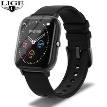 LIGE Health Fitness Smart Watch Men Electronic Blood Pressure Measurement Heart