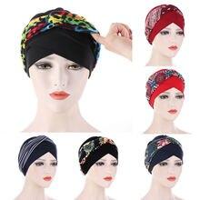 Bandeaux de tête extensibles imprimés pour femmes musulmanes, bonnets, Turban croisé, casquettes, hijab intérieur arabe 2021, nouvelle collection bandeau