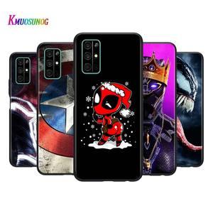 Marvel Мстители стиль для Huawei Honor 9A 9C 9S 9X 10 9 Lite 30 20 Pro 10i 8X 8 8A 7A 7C Pro Lite черный чехол для телефона