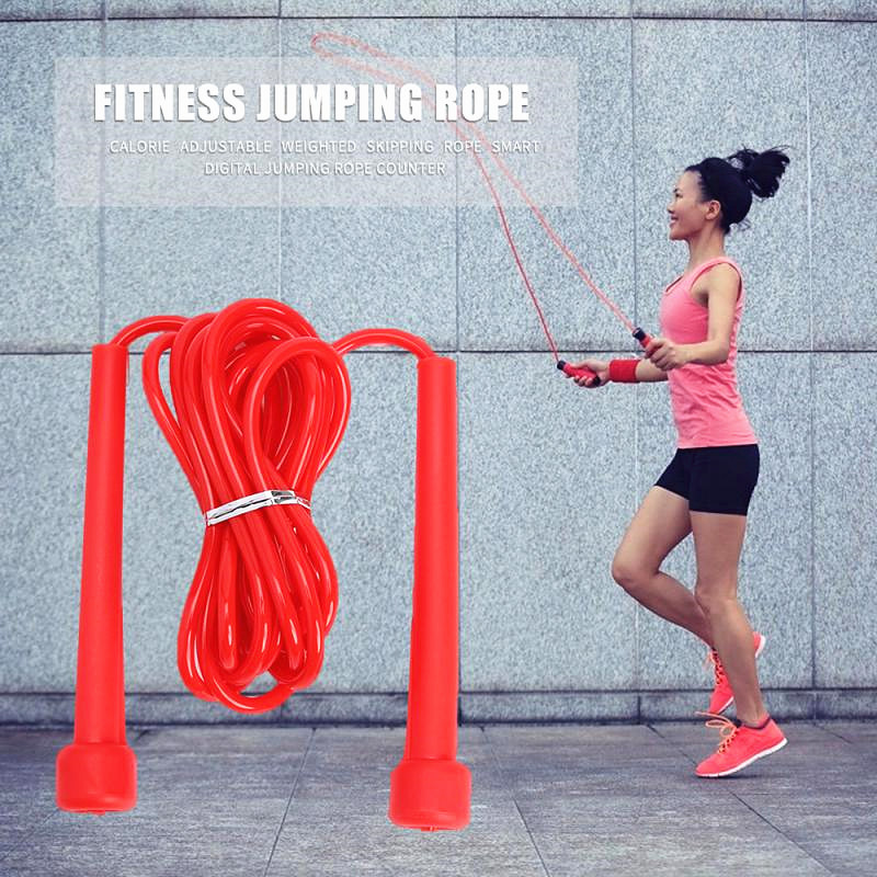 1PC Pro Skipping Rope Adjustable Speed Jump Fitness Rope Adult 9 Foot Long Nylon Plastic Handles Gym Aerobic Fitness Training