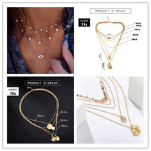 Europe and the United States new simple shell scallop pearls long fashion OL multilayer necklace women along the united states housing starts multilayer kitchen glove pod 1 3 quantities
