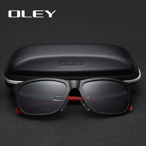 Image 2 - OLEY Aluminum Magnesium Men Sunglasses Polarized Coating Mirror Sun Glasses oculos Male Eyewear Accessories For Men Y7144