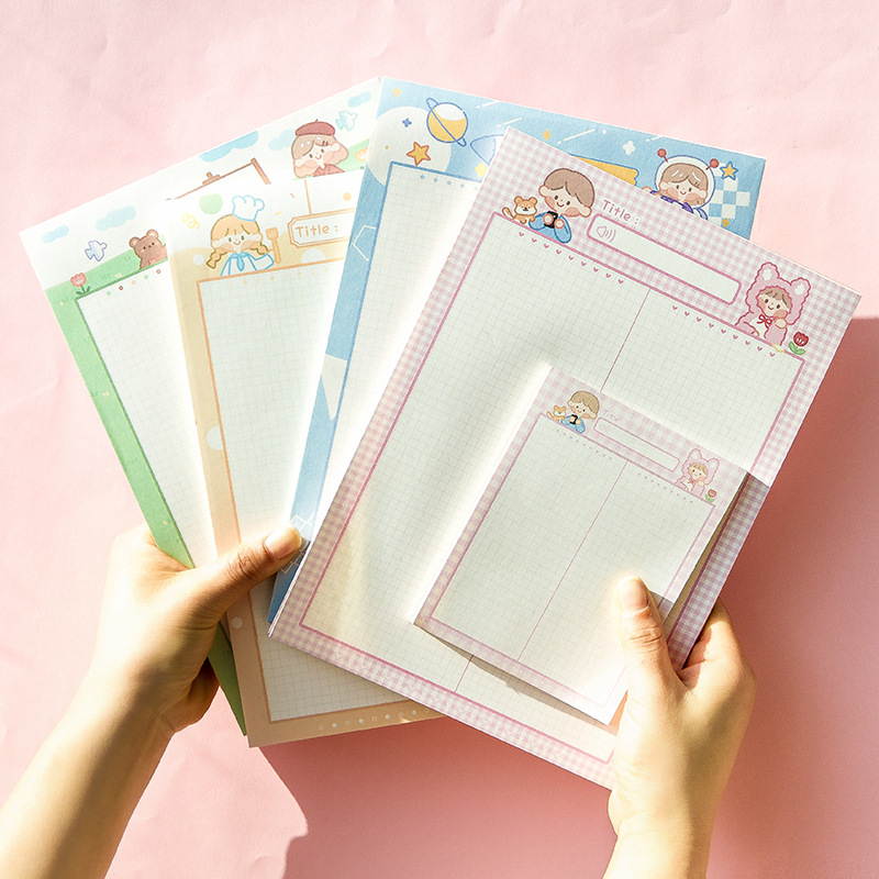 30 Sheets/pack Notebook Note Book Memo Pad Diary Day Planner Kawaii Journal Stationery Gift School Supplies