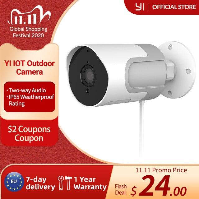 YI loT 야외 IP 카메라 풀 HD 1080p SD 카드 보안 감시 카메라 비바람에 견디는 야간 투시경 YI Cloud YI IOT APP
