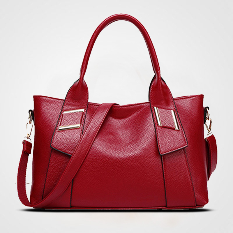 New Hot Sale Fashion Leather Women Handbag Ladies Large Capacity Crossbody Bags Simple Messenger Trend Soft Tote