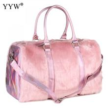 Pink Travel Duffel Bags Women Overnight Weekend Traveling Ba