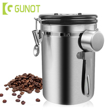 Jar Coffee-Container Storage-Bottle Stainless-Steel Metal Sugar Nut GUNOT