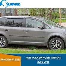 цена на for Volkswagen VW TOURAN 2006-2018 Window Visor deflectors Rain Guard for VW TOURAN 2006-2018 Accessories SUNZ
