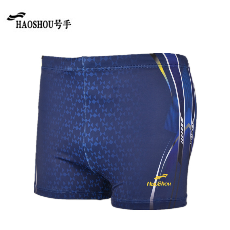 Cabinet Genuine Product HaoShou Swimming Trunks MEN'S Boxers Europe And America Fashion Adult Leveling Feet Beach Shorts Hot Spr