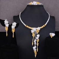 GODKI Brand Morocco Design 4PCS Shiny Long Earrings Necklace Jewelry Set for Women Romantic Bridal Wedding Engagement Jewelry