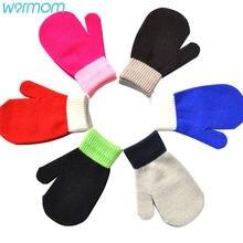 Вязаные Детские перчатки warmom ярких цветов зимние вязаные