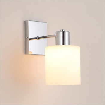 LED Modern minimalist creative glass wall lamp Nordic personality art bedroom single head wall lamp