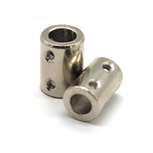 2pcs Motor Shaft Coupler 5mm 8mm High Strength Steel Shaft Drive CNC Motors Coupling Rigid Extension Mechanical Transmission 2pcs cnc motor shaft coupler 4 5 6 8 10 12mm high strength steel shaft drive motors coupling extension mechanical transmission