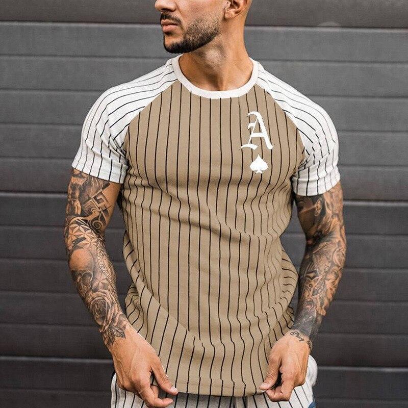 T Shirt for Men Stripped  2