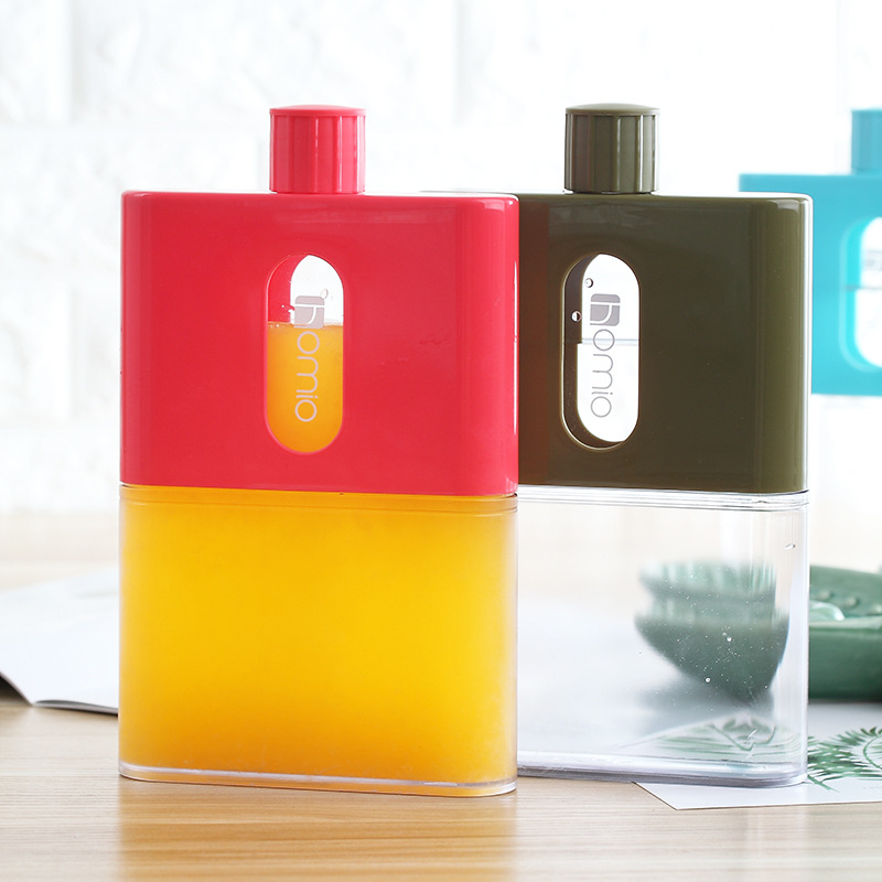 BPA Free A5 Paper Book Bottle Flask Flat Water Bottle Plastic Portable Paper Pad Notebook Water Bottles Flat Drinks Kettle|Water Bottles|   - AliExpress