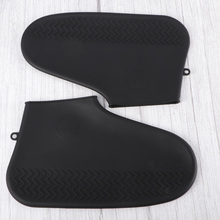 Antiskid Rainshoes Covers Wear Resistant Rain Boot Covers Silicone Shoe Covers Waterproof Shoe Cover Black Size