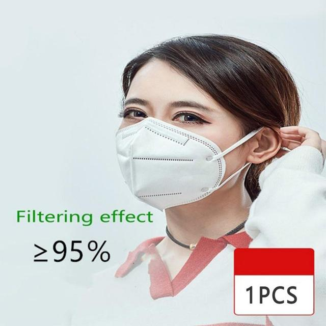 Reusable KN95 Mask - Proof Flu Face Mask N95 Protection Face Mask FFP1 FFP2 FFP3 Mouth Cover Pm2.5 Dust Masks 6 Layers Filter 1