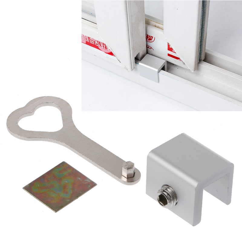 Move Window Child Safety Lock Sliding Windows Lock Security Sliding Sash Stopper 95AE