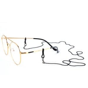 Image 4 - Toptan 20 adet yeni siyah metal gözlük zinciri gözlük gözlük güneş gözlüğü kordon tutucu