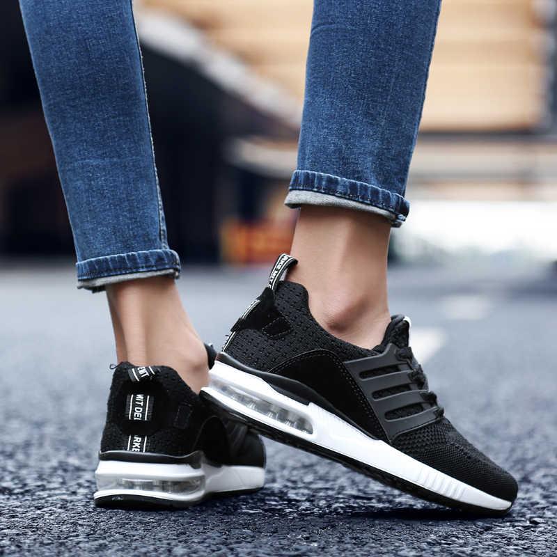 2020 yeni erkek Sneakers kauçuk siyah koşu ayakkabıları ordu yeşil nefes kumaş spor ayakkabılar erkek kadın kadın pembe Sneakers