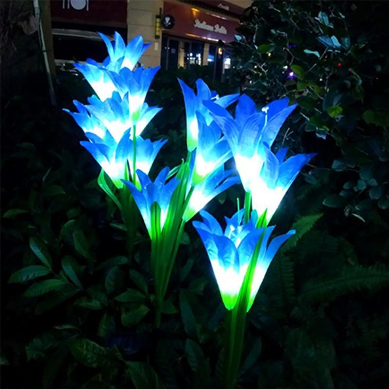 Flor de lírio solar para decoração do