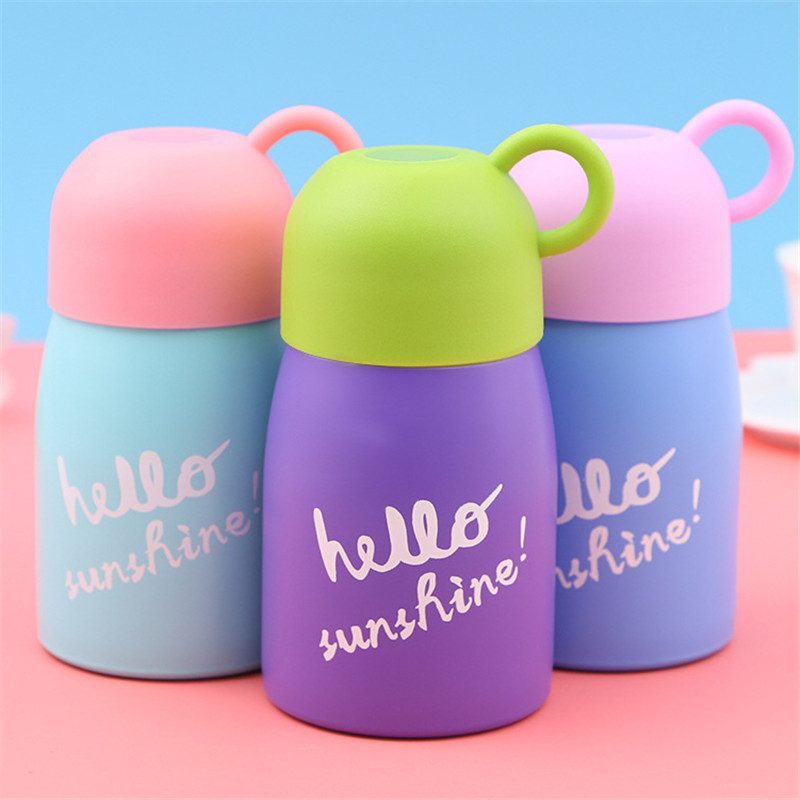 300ml Kids Water Bottle Thermos Stainless Steel Thermos Lovely Bottle Sports Cycling Camping Bicycle School Hiking Outdoor