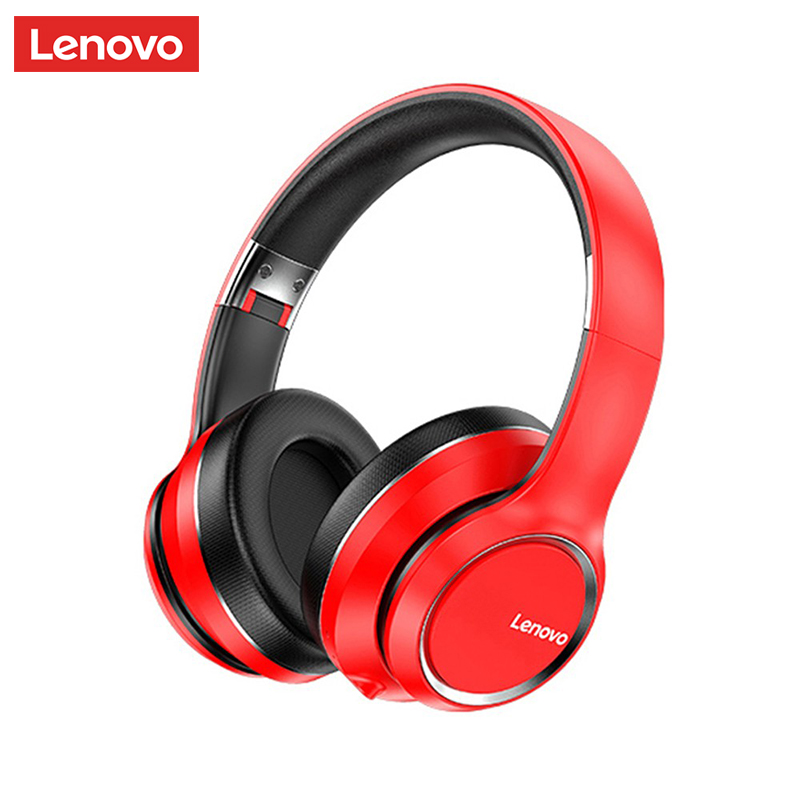 Lenovo HD200 Bluetooth Headphone Over-ear Foldable Noise Cancellation HIFI Stereo Gaming Headset Wireless Computer Headphone