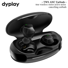 Active Noise Cancelling True Wireless Earbuds ANC TWS bluetooth 5.0 in Ear Earphones and Charging Case for Sports