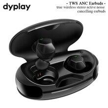 Aktif gürültü iptal gerçek kablosuz kulaklık ANC TWS bluetooth 5.0 kulak içi kulaklık ve şarj durumda spor